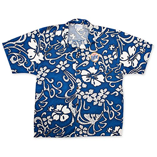 miller-lite-hawaiian-beer-logo-shirt-large-blue
