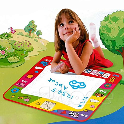 Magic Water Drawing Toy Painting Writing Mat Board 2 Magic Pens Doodle Mat for kids (Writing Center Caddy compare prices)