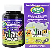 buy Nature'S Plus - Source Of Life Animal Parade Children'S Multi-Vitamin And Mineral Natural Grape Flavor - 90 Chewable Tablets