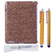 BLING IPad 3 (Gold) Sparkling Zebra Design / One (Gold) Stylus / One (Gold) Stylus - ECO-FUSED Microfiber Cleaning...