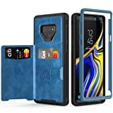 Galaxy Note 9 Wallet Case with Kickstand and Extreme Heavy Duty Protection.SXTech Shockproof Protective Case with PU Leather for Samsung Galaxy Note 9 (2018 Release).Magnetic Car Mount (Blue) (Color: Blue/Black)