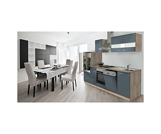 respekta LBKB280ESG Fitted Kitchen Rough Oak Empty Units 280 cm Grey