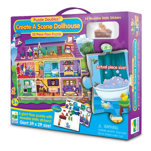 The Learning Journey Puzzle Doubles! Create A Scene Dollhouse