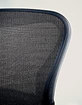 Hot Sale Aeron Chair by Herman Miller - Home Office Desk Task Chair Fully Loaded Highly Adjustable Medium Size (B) - PostureFit Lumbar Back Support Cushion Graphite Frame Blue Black Tuxedo Pellicle