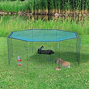 New trixie natura outdoor run protective net rabbit for Diy playpen for guinea pigs