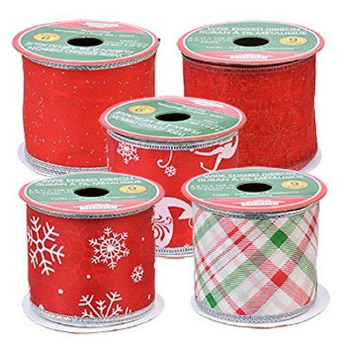 christmas-house-assorted-red-white-wire-edged-polyester-ribbon-5-25x108-in-spools