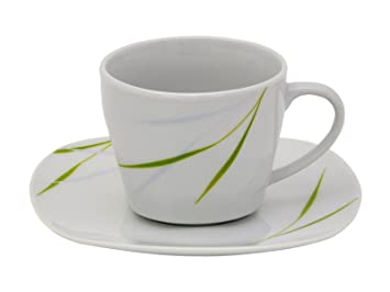 kaffeeservice aviva 32tlg wei mit farbigem dekor f r 6 personen us15. Black Bedroom Furniture Sets. Home Design Ideas