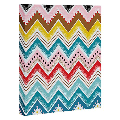 "DENY Designs Khristian A Howell Nolita Chevrons Art Canvas, 8"" x 10"""