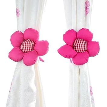 dehang 1 paire crochet embrasse boucle de rideau fen tre fleur du soleil b b kid. Black Bedroom Furniture Sets. Home Design Ideas