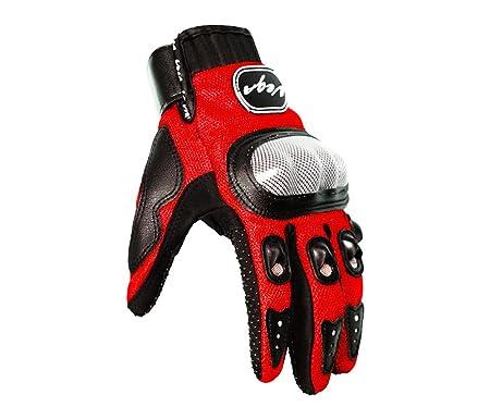 Vega MCS-01A Motorcycle Glove (Red, Large) low price