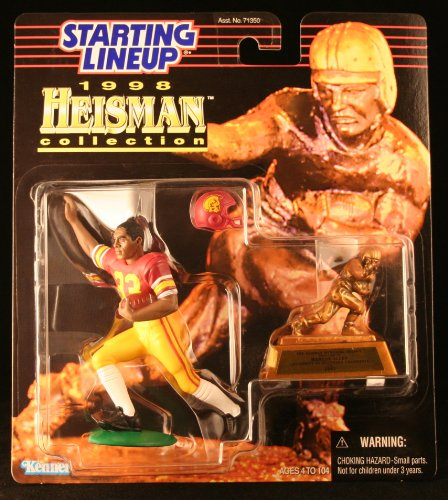 MARCUS ALLEN / USC TROJANS * 1998 NCAA College Football HEISMAN COLLECTION Starting Lineup Action Figure, Football Helmet & Miniature 1981 Heisman Memorial Trophy * UNIVERSITY OF SOUTHERN CALIFORNIA