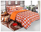 Bellagio Elite Collection Cotton 1 Double Bed Sheet & 2 Pillow Covers (Orange)