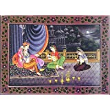 "Dolls Of India ""King Intoxicated By Wine And Beauty"" Reprint On Paper - Unframed (34.29 X 24.77 Centimeters)"