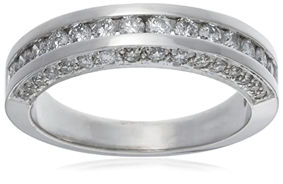18ct White Gold AMR261074 Ladies 0.75ct Diamond Band Ring