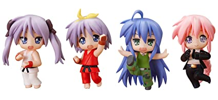 Nendoroid: Petite Lucky Star X Street Fighter Set PVC figurine