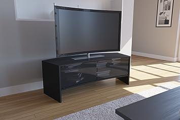 "VCM 14364 TV-Möbel ""Curvedo 150"" Holz 50 x 50 x 150 cm, schwarz"