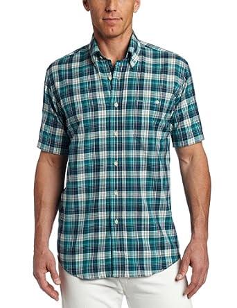Pendleton men 39 s short sleeve oceanside button down shirt for Mens teal button down shirt