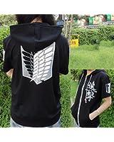 Hot Attack on Titan Shingeki no Kyojin cosplay hoodie coat Sweater Short sleeve