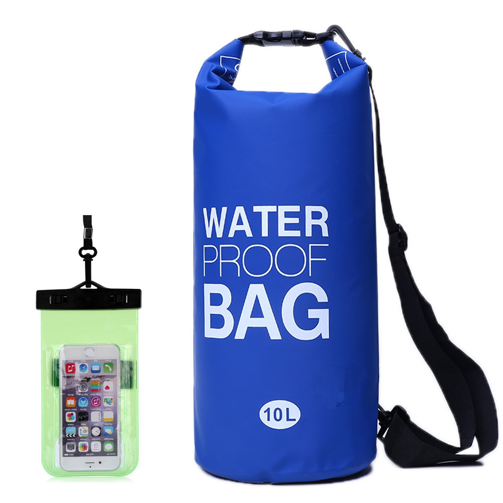 Waterproof Dry Bags Backpack with Shoulder Strap - Roll Top Dry Compression Sack Keeps Gear Dry for Kayaking, Beach, Rafting, Boating,Swimming, Hiking, Camping with Free Bonus Waterproof Phone Case and Pocket Tool By GAOGE