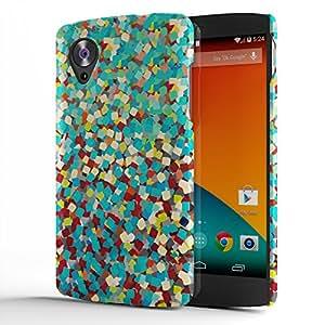 Koveru Designer Printed Protective Snap-On Durable Plastic Back Shell Case Cover for Google Nexus 5 - Flower Art
