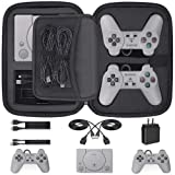 Customized Carry Case for Playstation Classic, Deluxe Carrying Case Storage Perfect Protection for Sony Playstation Classic Mini Console, 2 Controllers and All Other Accessories (Color: Black)