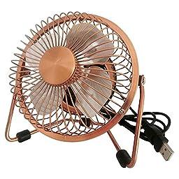 BOGZON Xialee USB Desk Mini Fan  for Desktop/Tabletop, Copper