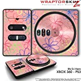 DJ Hero Skin Kearas Flowers on Pink fit XBOX 360 and PS3 (DJ HERO NOT INCLUDED)