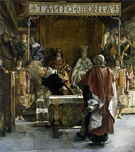 High Quality Polyster Canvas ,the Cheap But High Quality Art Decorative Art Decorative Prints On Canvas Of Oil Painting 'Sala Y Frances Emilio The Expulsion Of The Jews From Spain (in The Year 1492) 1889 ', 12 X 13 Inch / 30 X 34 Cm Is Best For Gym Artwork And Home Artwork And Gifts (Space Pirate Sala compare prices)