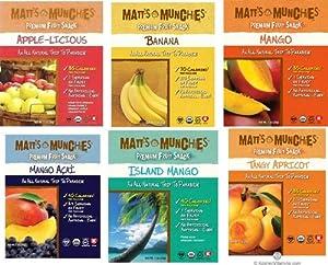 Matt's Munchies Organic 6-flavor Fruit Snack Variety Pack (12 Pack)