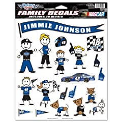 Jimmie Johnson 2013 8.5 X 9.5 Sheet of 20 Family Decals by WinCraft