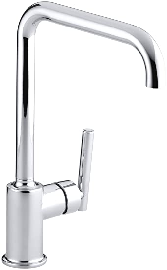 KOHLER K-7507-CP Purist Primary Swing Spout Kitchen Faucet Without Spray, Polished Chrome