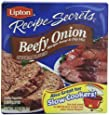 Lipton Recipe Secrets, Beefy Onion, 2-Count 2.2-Ounce Boxes (Pack of 6)