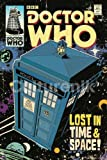 Doctor Who TARDIS Comic Book Cover Art Sci Fi British TV Television Show Poster Print 24x36