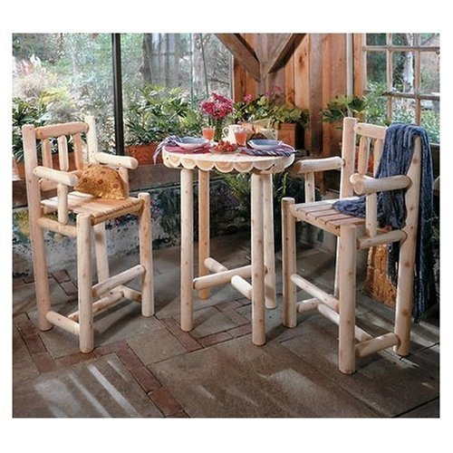 Rustic Cedar Log Style Outdoor Glider Garden Bench