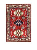 L'Eden del Tappeto Alfombra Uzebekistan Super Rojo / Multicolor 98 x 147 cm