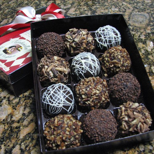 Chocolate Decadence Dessert Truffles (12-piece) Gift Box 1.8lbs