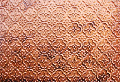 Plastic Antique Copper Kitchen Backsplash Wall Covering - 26 Ft. Roll X 2ft. Wc20 Ul Fare Rated.glue On,nail On,tape On,staple On!father's Day Gift Ideas!