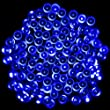PMS� 200 LED Blue Solar Fairy String Lights Waterproof, choice of light effect. Ideal for Christmas, Halloween, Home & Garden outdoor decorative, 22M Super Bright