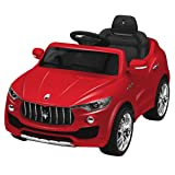 Costzon 6V Licensed Maserati Kids Ride On Car Opening Doors with Parental Remote Control, Swing Function (Red) (Color: Red, Tamaño: 39