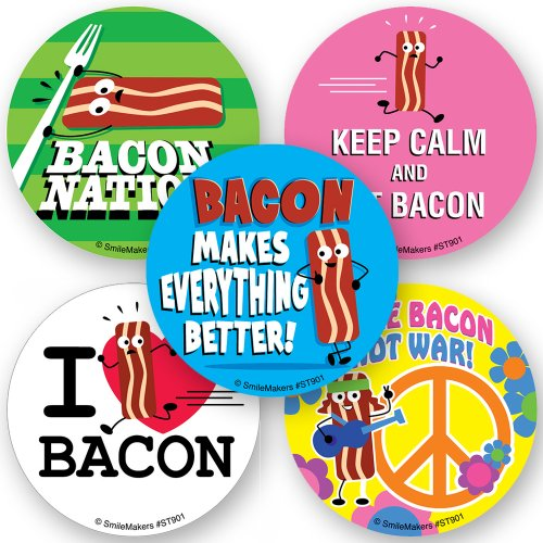 Bacon Scented Stickers - 75 Per Pack