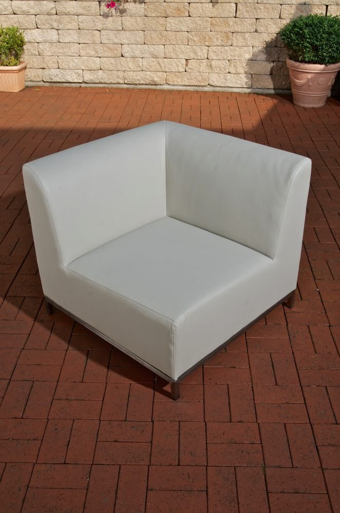 "CLP Kombi-Elemente METIS Outdoor Lounge-Set Metis – das ""Sofa-Feeling"" für Draußen Eck-Sofa, hellgrau"