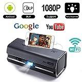 Mini DLP Portable Projector,iRULU HiBeam H6Pro Upgrade Home Theater 1080P Projectors,360°Dual Speaker,120