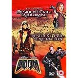 Resident Evil 2 - Apocalypse/Resident Evil - Extinction/Doom (Steelbook) [DVD]by Milla Jovovich