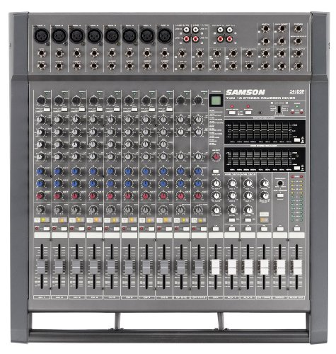 Samson TXM16 16 Channel Powered Mixer, 1000 Watts