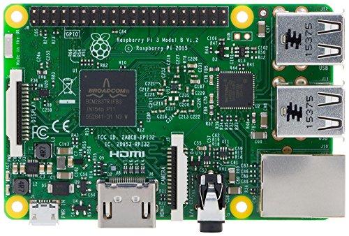 Raspberry Pi 3 model B - Barebon de sobremesa (Quad-Core 1.2 GHz, 1 GB RAM, USB 2.0, Bluetooth 4.0, 802.11b/g/n)