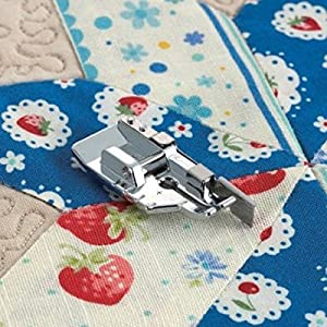 Tinksky Multi-functional Snap On Telfon Non-stick Presser Foot for Domestic Sewing Machines