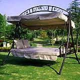 hollywoodschaukel rom poly rattan mit liegefunktion braun meliert. Black Bedroom Furniture Sets. Home Design Ideas
