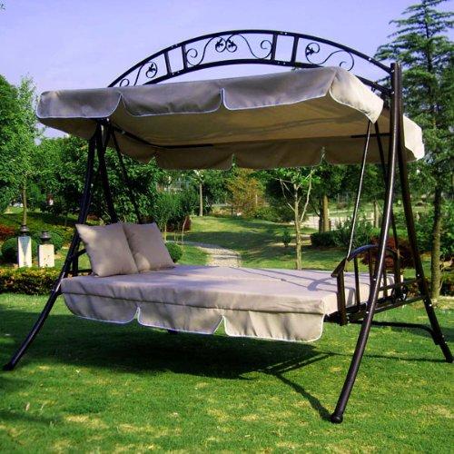 Hollywoodschaukel Holz Mit Bettfunktion ~ LUXUS Hollywoodschaukel Gartenschaukel mit Bettfunktion Breite 215cm