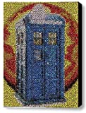 Amazing Framed Dr. Who Tardis Bottle Cap Mosaic 9x11 Inch Limited Edition W/coa