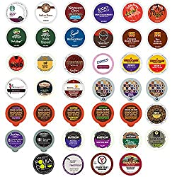 Custom Variety Pack Bold Coffee Single Serve Cups for Keurig K Cup Brewers Sampler, 40 Count by Crazy Cups